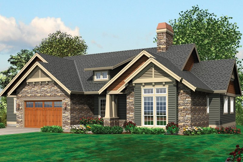 Craftsman Exterior - Front Elevation Plan #48-242