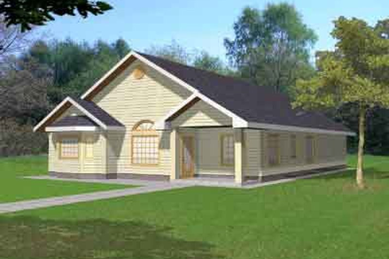 Traditional Exterior - Front Elevation Plan #117-456 - Houseplans.com