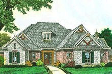 Home Plan - European Exterior - Front Elevation Plan #310-1288