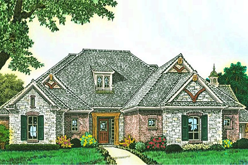 European Exterior - Front Elevation Plan #310-1288