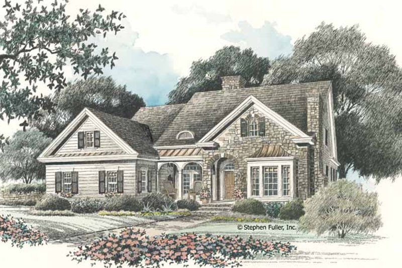 Country Exterior - Front Elevation Plan #429-95 - Houseplans.com