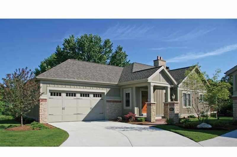 Craftsman Style House Plan - 2 Beds 2.5 Baths 2448 Sq/Ft Plan #928-196 Exterior - Front Elevation