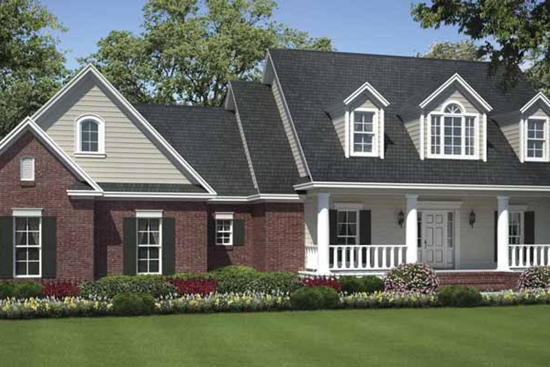 Country Exterior - Front Elevation Plan #21-424