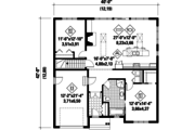 Country Style House Plan - 2 Beds 1 Baths 1315 Sq/Ft Plan #25-4635 Floor Plan - Main Floor Plan