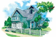 Country Exterior - Front Elevation Plan #930-72