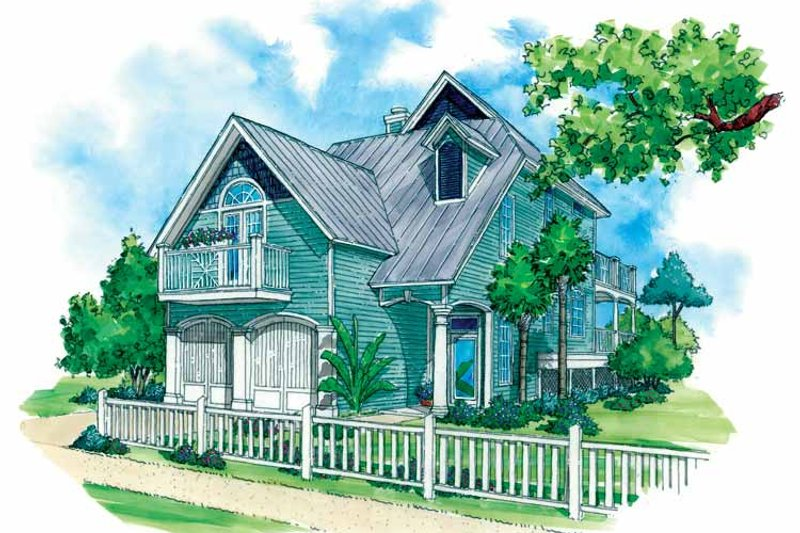 Architectural House Design - Country Exterior - Front Elevation Plan #930-72