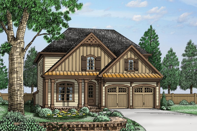 Traditional Exterior - Front Elevation Plan #927-962 - Houseplans.com