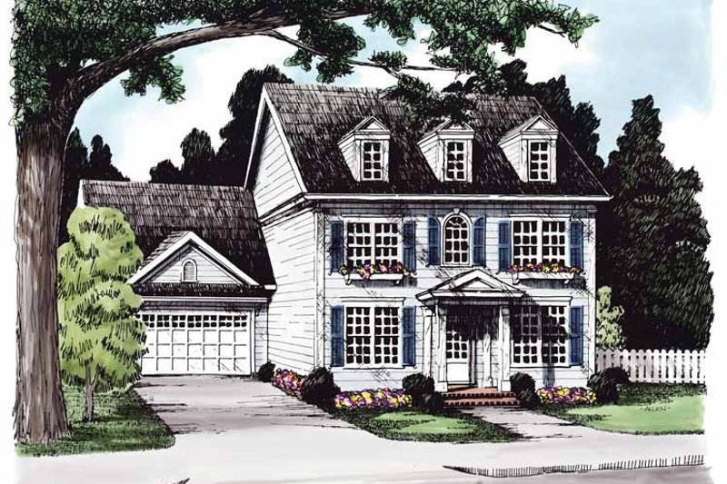 Classical Exterior - Front Elevation Plan #927-614
