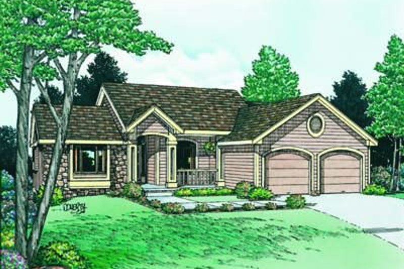 Traditional Exterior - Front Elevation Plan #20-561 - Houseplans.com