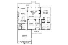 European Floor Plan - Main Floor Plan Plan #929-34