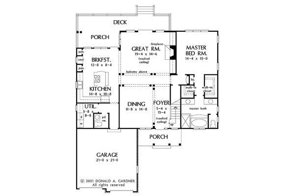 Architectural House Design - European Floor Plan - Main Floor Plan #929-34