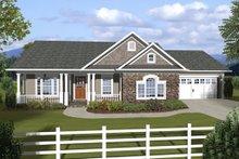 Home Plan - Ranch, Craftsman, Front Elevation