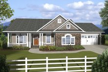 Architectural House Design - Ranch, Craftsman, Front Elevation