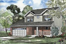 Country Exterior - Front Elevation Plan #17-3191