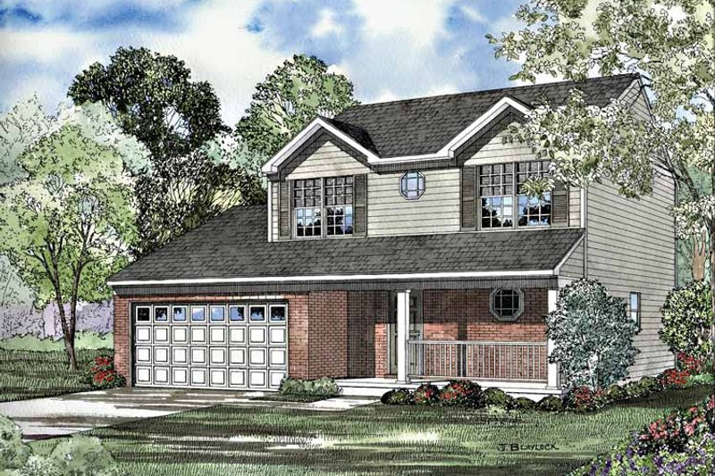 Home Plan - Country Exterior - Front Elevation Plan #17-3191
