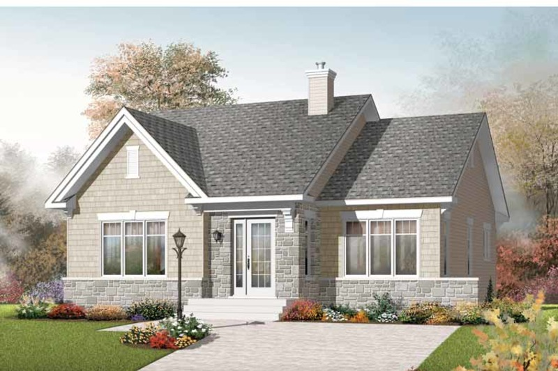 Craftsman Exterior - Front Elevation Plan #23-2414 - Houseplans.com