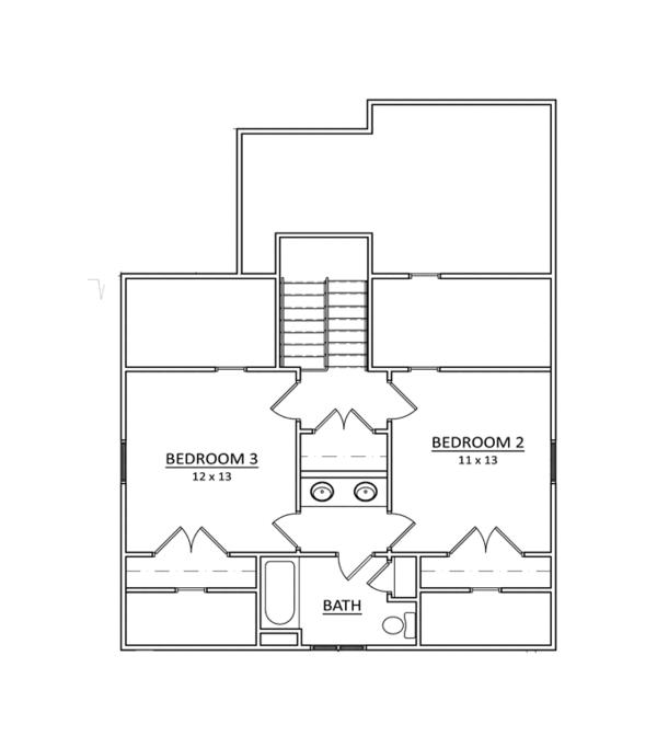 Craftsman Floor Plan - Upper Floor Plan Plan #936-11