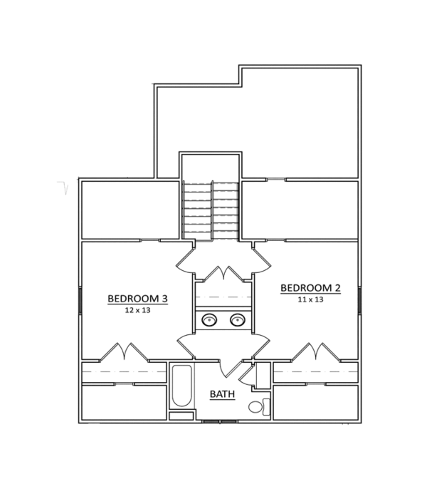 Craftsman Floor Plan - Upper Floor Plan Plan #936-11