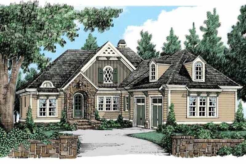 Tudor Exterior - Front Elevation Plan #927-433