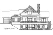 Bungalow Style House Plan - 3 Beds 3.5 Baths 1824 Sq/Ft Plan #117-670 Exterior - Rear Elevation