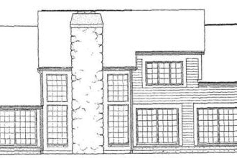 Exterior - Rear Elevation Plan #72-134 - Houseplans.com