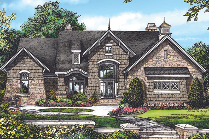 European Exterior - Front Elevation Plan #929-1015 - Houseplans.com