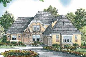 Architectural House Design - Tudor Exterior - Front Elevation Plan #453-447