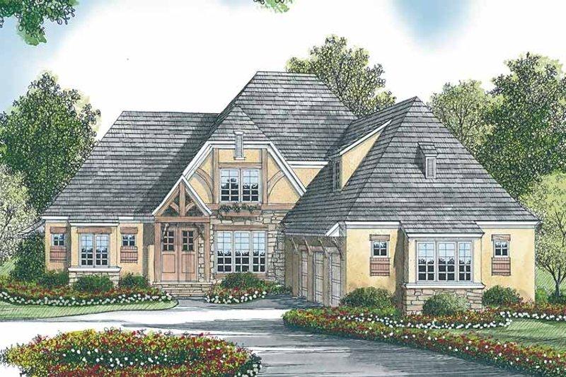 House Plan Design - Tudor Exterior - Front Elevation Plan #453-447