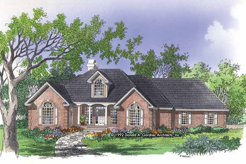 Country Exterior - Front Elevation Plan #929-141