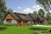 Craftsman Style House Plan - 4 Beds 3.5 Baths 3888 Sq/Ft Plan #48-711 Exterior - Front Elevation
