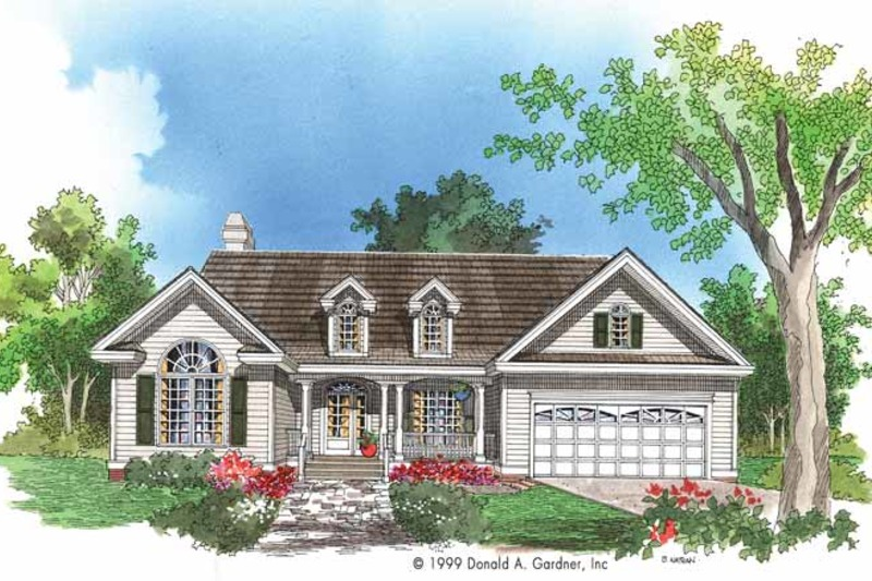 Country Exterior - Front Elevation Plan #929-519 - Houseplans.com