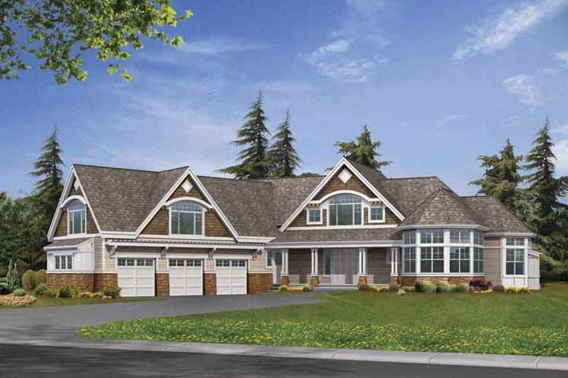 Craftsman Exterior - Front Elevation Plan #132-519 - Houseplans.com