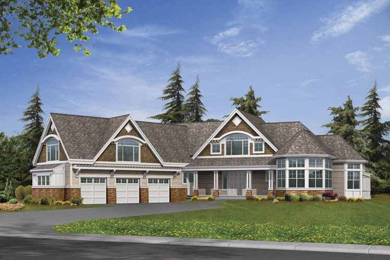 Craftsman Exterior - Front Elevation Plan #132-519