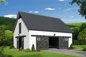 Country Exterior - Front Elevation Plan #932-346