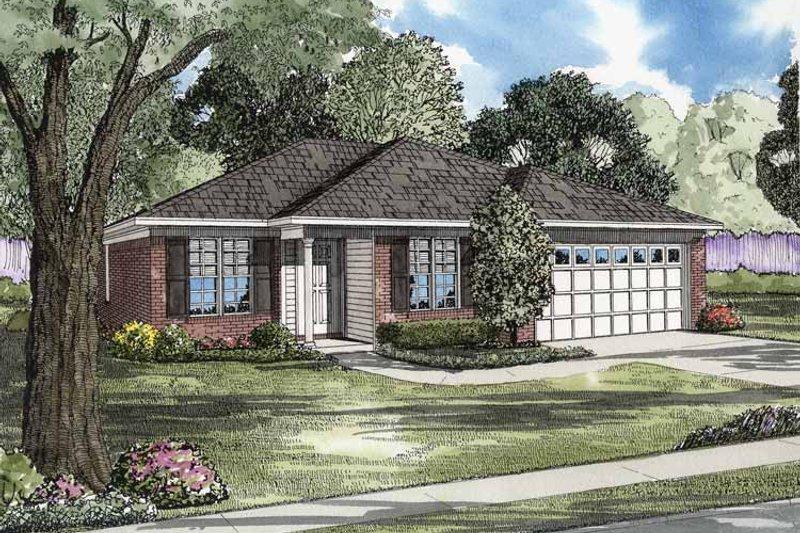 Ranch Exterior - Front Elevation Plan #17-3063 - Houseplans.com