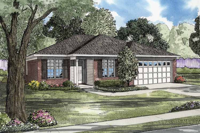Ranch Exterior - Front Elevation Plan #17-3063