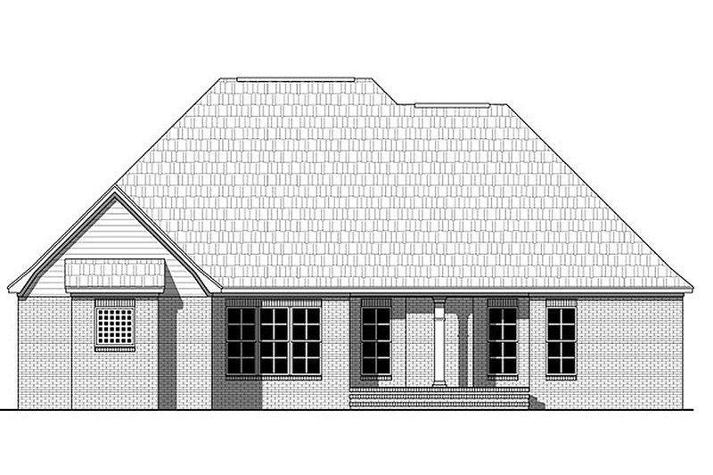 European Exterior - Rear Elevation Plan #21-367 - Houseplans.com