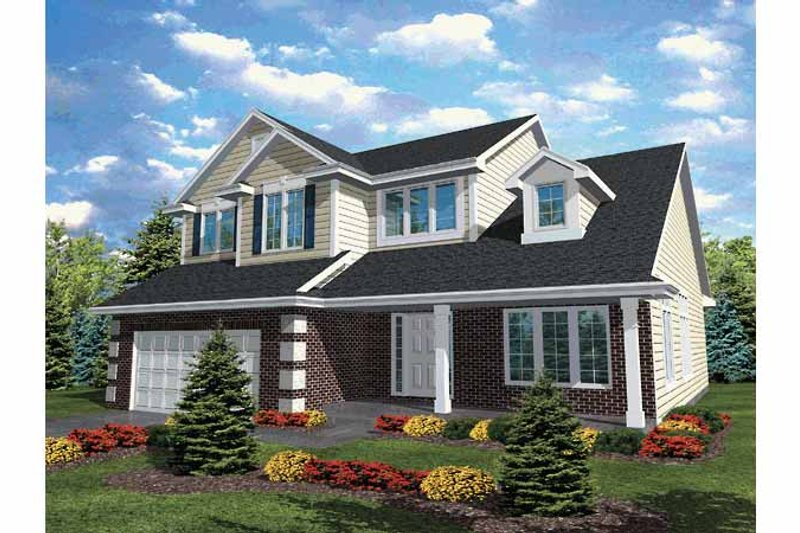 Country Exterior - Front Elevation Plan #320-835