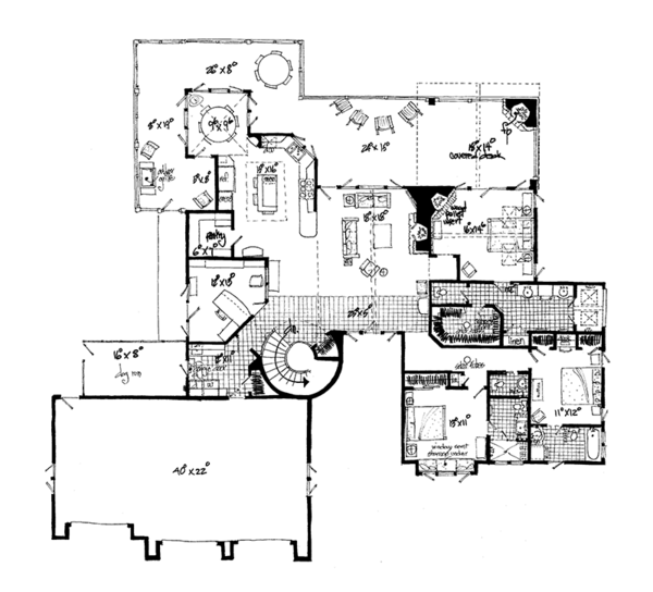 Ranch Floor Plan - Other Floor Plan Plan #942-35