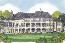 Architectural House Design - European Exterior - Rear Elevation Plan #453-595