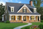 Craftsman Style House Plan - 5 Beds 4 Baths 3527 Sq/Ft Plan #419-162 Exterior - Front Elevation