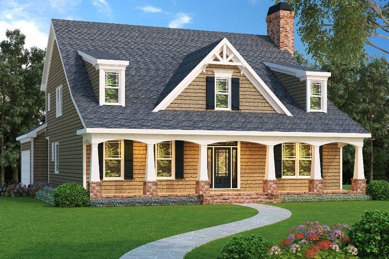 Dream House Plan - Craftsman Exterior - Front Elevation Plan #419-162