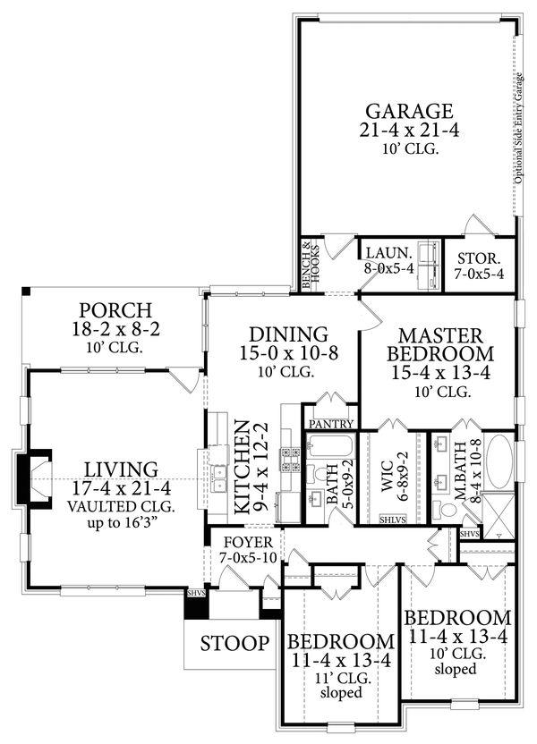 Architectural House Design - Cottage Floor Plan - Main Floor Plan #406-9665