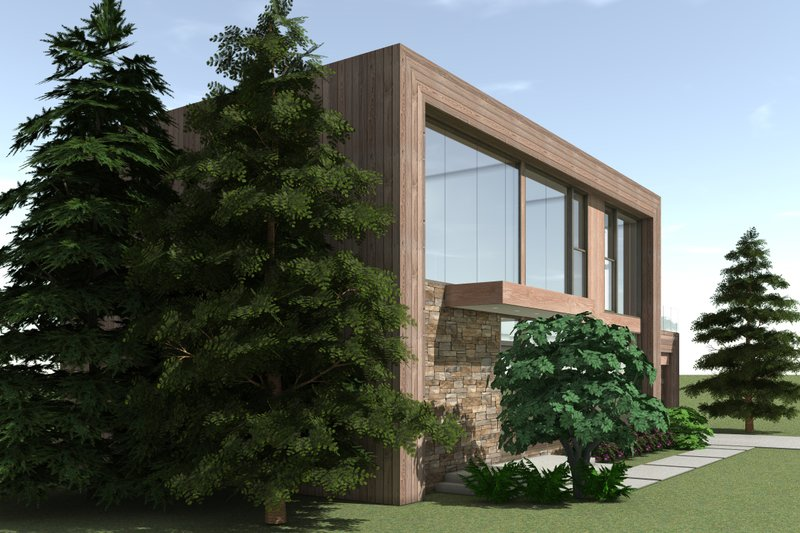 Modern Exterior - Other Elevation Plan #64-217 - Houseplans.com