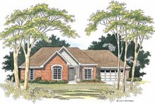 Ranch Exterior - Front Elevation Plan #952-172