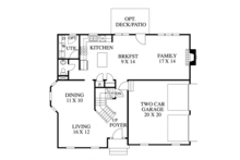 Traditional Floor Plan - Main Floor Plan Plan #1053-40