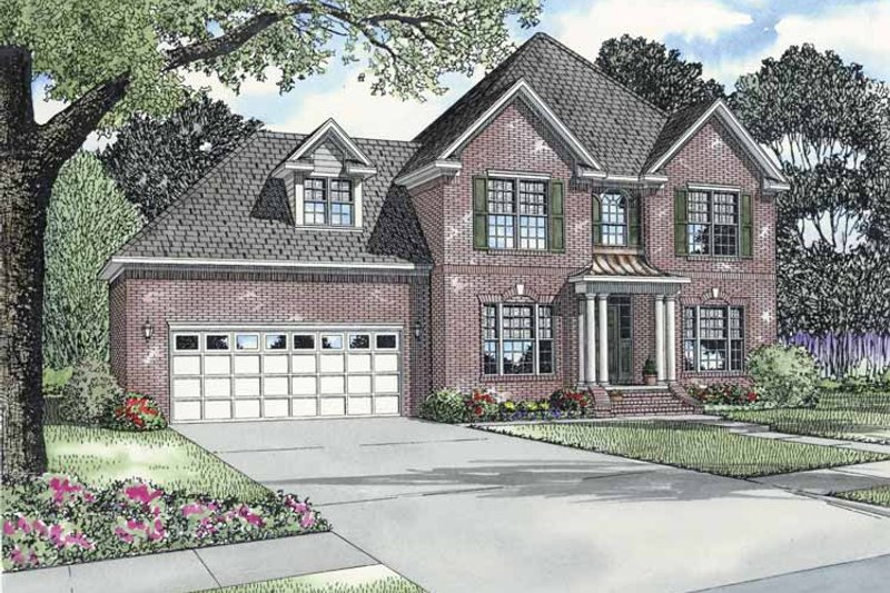 European Exterior - Front Elevation Plan #17-2768
