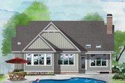 Country Style House Plan - 3 Beds 2 Baths 1779 Sq/Ft Plan #929-1076 Exterior - Rear Elevation