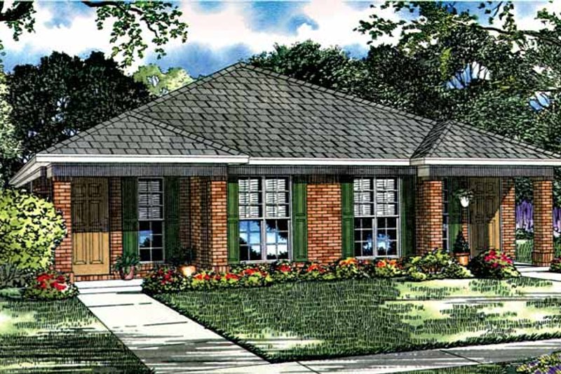 Home Plan - Ranch Exterior - Front Elevation Plan #17-2980