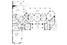 Mediterranean Floor Plan - Main Floor Plan Plan #930-473
